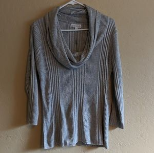 NWT Sparkly Silver Cowl Neck Sweater